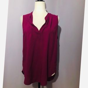 Velvet by graham & spencer sleeveless pink blouse